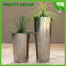 Conical Garden Planter/ Outdoor Flower Pots / Stainless Steel Decoration Pots