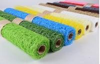 sisal mesh wrap/sisal floral mesh/sisal floral mesh wrap