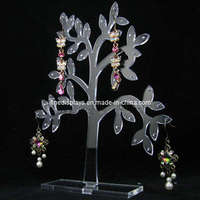 high-end acrylic earring counter desktop display stand jewlery display tree wholesale