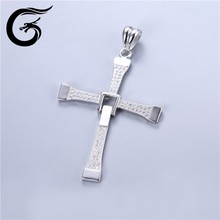 925 sterling silver wholesale cross with cz stones jewelry pendant