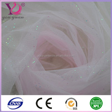 Wedding tulle fabric with nylon and polyester composition