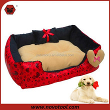 Hot Sale Factory Supply Soft Red Dog Bed For / Memory Foam Dog Bed