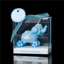 Decorazione partito azzurro elefante candele 7,1 x7.1cm