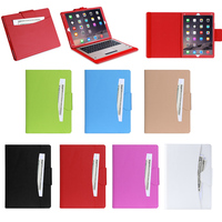 Business Style card slot Leather Case for iPad Pro with wake up/sleeping function, for ipad pro leather case with keyboard