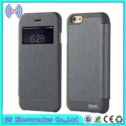 Two Mobile Phones Leather Case for iPhone 6 Mercury Goospery Wow Bumper View