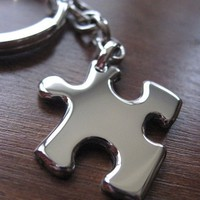 Metal Keychain Puzzle With Chain