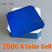 Sunpower Maxeon Flexible Solar Cell 21.8% High Efficiency 3.34W 125 x 125 C60 Monocrystalline for Solar Impulse Airplane