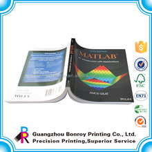 Glossy lamination art paper printing custom softcover book