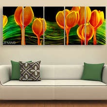 Modern Wall Decor Metal Wall Art Aluminum Paintings Wall Painting Flower