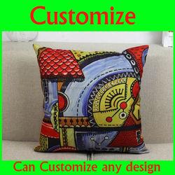 100% non-fade print cotton cheap decorative Handmade sofa pillow