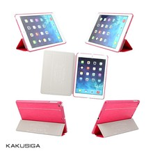 Fashion Tri-folded PU Leather Cases for apple tablet