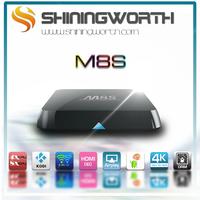 M8S Amlogic S812 Quad Core TV Box KODI H.265 HEVC Android 4.4 Dual band Wifi 2GB RAM 16GB EMMC BT 4.0 4K2K HD mini pc set box