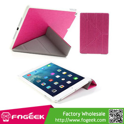 Fast Shipping for iPad Air 5 Folding Stand Smart Wake up / Sleep Crazy Horse Leather Cover