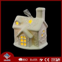 Cute small hanging LED village shaped kinds of handicrafts