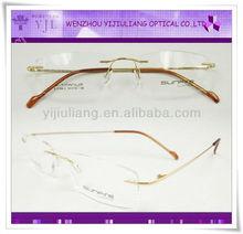 Golden quality memory b titanium optical glasses frame