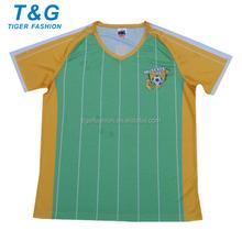 HOT SALE short sleeve soccer uniform kit 2015
