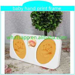 2015 new baby hand print frame keepsake how to make clay handprints