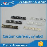 Three size Three-dimensional convex digital plastic jewelry price tags display