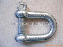 rigging hardware European D shackle with round screw pin