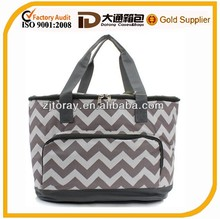 Large canavs Insulated Cooler Tote Personalized wave Pattern bag
