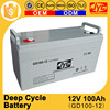 Guangdong factory direct sale long life 12v 100ah deep cycle battery