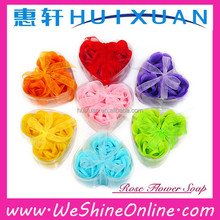 3pcs rose shaped soap flowers / promotional flower soap / natural soap carving flowers