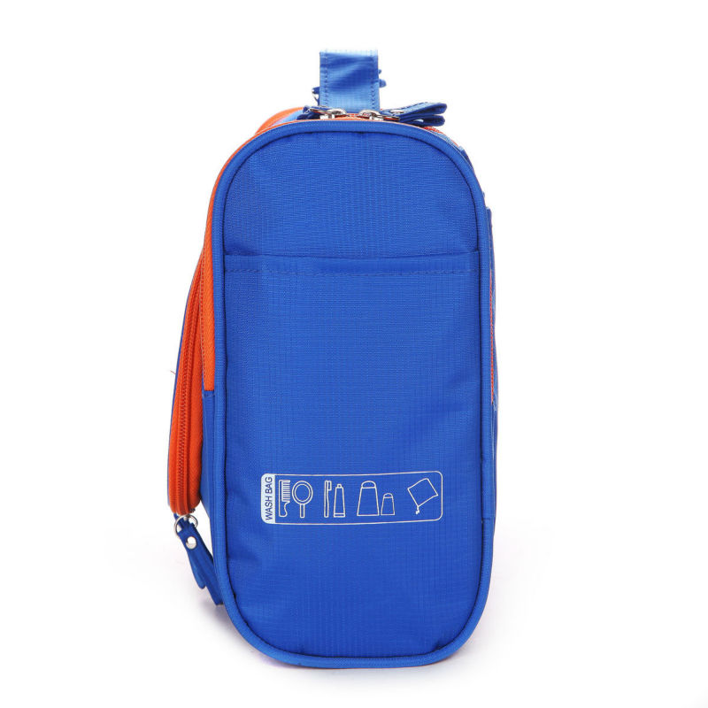 Gros mode nylon pliage contenu sac cosmétique multi poche pour voyage