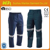 wholesale hi vis reflective waterproof navy pants military working pants for man cotton reflective tape work pants