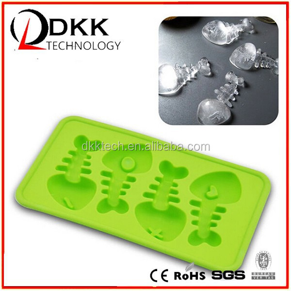 Dkk 2015 summer new product funny fish bone silicon rubber for Ice fishing jig molds