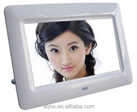 7 inch full function digital photo frame with remote controller and built in memory