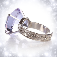 Wedding Optical Diamond Crystal Diamond Napkin Ring