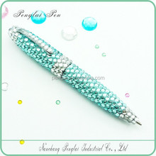 crystallized gift metal crystal body pen diamond jewelled crystal bling writing pens