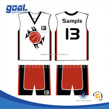 Polular style sublimation european new design basketball uniform design for men