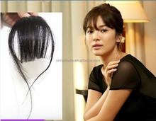 2015wholesale price 100 natural human hair bangs/human hair fringe/clip natural hair bangs