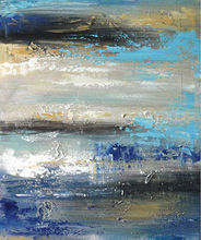 Hand made abstract oil painting on canvas