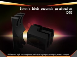 Tennis racquet high pound protector/stringing accessory