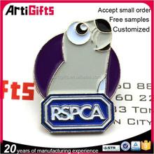 2015 Artigifts High quality metal wholesale custom animal metal logo lapel pin