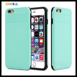 Rugged hard pc & tpu hybrid iron armor protective case for apple iphone 6 plus 5.5 inch robot armor case