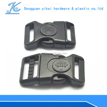 Eco-fridenly plastic curved buckle clip,buckle for backpack,wholesale pet collar buckle