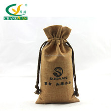 Promotional products screen printing jute wine bottle bag
