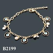 Bisuteria 2015 New Products Wholesale Jewellery , Turkey Jewelry Evil Eye Bracelet, Fashion Gold Plated Evil Eye Bracelet