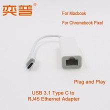 """USB 3.1 Type C Network Adapter for Apple Macbook Air 12"""" 10/100M"""