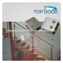 inox 304 balustrade en verre clamp