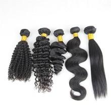 Fast shipping 6A virgin hair deep wave weave virgin peruvian remy 100 human hair
