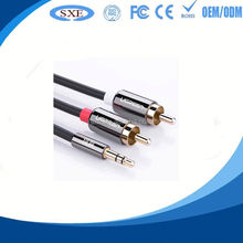 Hot sale male 2.5mm stereo 90 angle plug to 3.5mm female audio cable with high quality