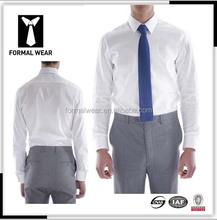 ขายส่งบางพอดีที่กำหนดเองทำผ้าฝ้าย100%เสื้อเชิ้ตสีขาว
