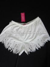White Shorts of Ladies' Fashion Design