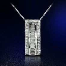 2015 Fashion 925 Sterling Silver Pendant Paved Cubic Zirconia
