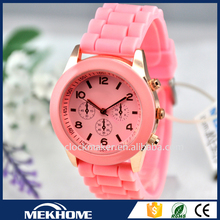 colorful silicone band free sex girls gent wrist watch