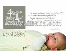 Lola & Ben Organic Cotton and Merino Baby Sleeping Bag